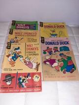 Walt Disney Lot 5 Gold Key Donald Duck Comics 1963, 64, 70 Fair to Good - $18.70