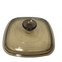 """Pyrex Amber Square Lid 6 1/2""""  A 7 C Replacement Great Condition! - $11.40"""
