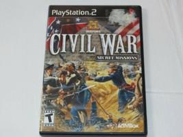 History: Civil War Secret Missions Sony PlayStation 2 PS2 2008 T-Teen Shooter - $15.89
