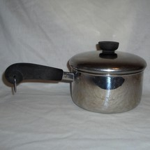 2001 Revere Stainless Steel Tri-Ply Disc 1 1/2 Quart Saucepan & Lid, #rw201 - $15.95