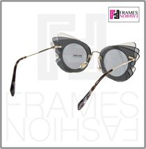 MIU MIU Overlapping Game 02S Grey Silver Mirrored Butterfly Sunglasses MU02SS image 4