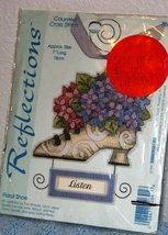 "Floral Shoe ""Listen"" Cross Stitch Kit - $14.67"