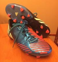 Adidas Predator Absolado Soccer Cleats Outdoor Blue Orange Mens 9.5  LZ ... - $30.17