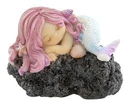 Top Collection Miniature Fairy Garden and Terrarium Sleeping Little Merm... - $14.17