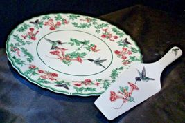 Porcelain National Wildlife Federation Hummingbird Platter & Server Andrea by Sa image 4