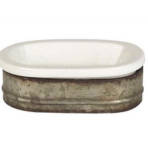 Metal and Stoneware Soap Dish - $34.65