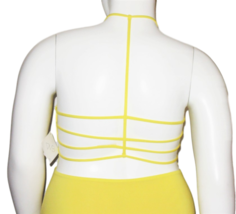 Vicious Young Babes (VYB) Bright Yellow One Piece Swimsuit Size XL image 5