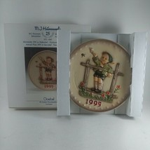"""1995 Hummel Plate - 25th Annual Final Edition Excellent Condition 7.5 """" - $19.16"""