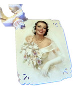 8 Handmade Gift Tags, Beautiful Retro Bride, Cr... - $4.00
