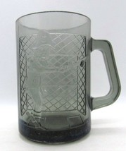 McDonald's CAPTAIN CROOK Smoky Glass 3D Raised Image Coffee Cup Mug Rare - $15.77