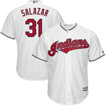 Men's Cleveland Indians Danny Salazar White Polyester Cool Base Player J... - €42,46 EUR