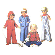 70s Vtg McCall Sewing Pattern 5709 Toddlers Unlined Hooded Jacket Overal... - $6.95