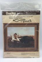 "Bucilla Indians Hunting Buffalo Needlepoint  Kit  14"" x 18"" Native American - $20.90"