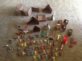 Huge Vintage  Fort Apache Parts & Accessory Lot & Fort  Ideal Parts - $108.90