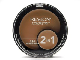 Revlon ColorStay 2-in-1 Compact Makeup  Concealer Natural Beige 220: mak... - $12.99