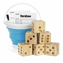Giant Wooden Yard Dice Set for Outdoor Fun, Barbeque, Party Events, Back... - £71.15 GBP