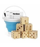 Giant Wooden Yard Dice Set for Outdoor Fun, Barbeque, Party Events, Back... - £69.67 GBP