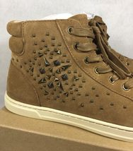 UGG Australia GRADIE DECO STUDS LEATHER Chestnut HIGH TOP SNEAKERS 1013911 image 4