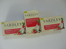 NEW 3x Yardley London Moisturizing Bath Bar Strawberry Coccnut 4.25 oz. Soap - $8.99