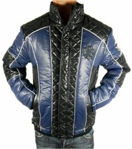 Ed Hardy By Christian Audigier Men's Premium Puffer Hot Nylon Jacket Blue image 2