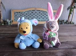 Easter Winnie The Pooh & Gopher Bean Bag Plush Bunny Costumes Vintage Disney  - $23.99