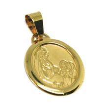 Anhänger Medaille Gelbgold 750 18k, Madonna von Lourdes mit Hirten Oval - $95.02