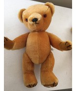 """Golden Stuffed Bear Toy Made in England, Jointed, 18"""" Tall - $32.26"""