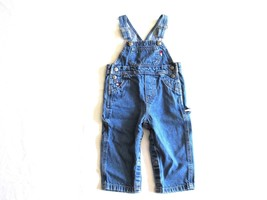 Tommy Hilfiger Infants Bib Overall 12-18 Months Toddler Blue Denim Carpe... - $14.99
