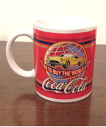 Coca Cola Mug Coffee Cup Ad I'd Like to Buy the World a Coke Yellow Corv... - $7.91