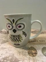 Retired OWL Mug Coffee Cup Fun Colorful Owl Cup Large Collectible Mug - $9.00