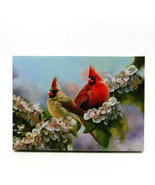 Lovebird Cardinals LED Light Up Lighted Canvas Wall or Tabletop Picture Art - $20.89