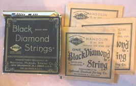 Vintage Black Diamond Mandolin D or 3rd & G or 4th Steel 3 strings Silve... - $8.00