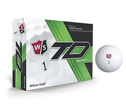 Wilson WGWP39310 True Distance W/S Soft WH 12-Ball, White Pack of 12, Large