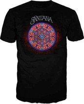 Santana-Full Color Mandala-XL Black T-shirt - $22.24