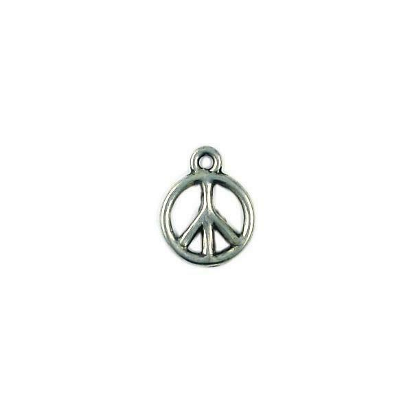PEACH SIGN CHARM FINE PEWTER PENDANT CHARM 2x15x12mm
