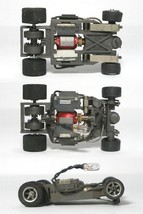 12 Aurora 1981 Blazin Brakes Vintage Lighted Lit Chassis, AFX G+ Style Tested! - $227.69