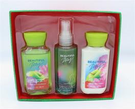 Travel Boxed Set Bath & Body Works Beautiful Day Shower Gel Body Mist Lo... - $21.98