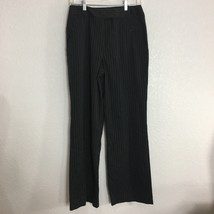 Larry Levine Womens Dress Pants Size 8 Black White Pin Stripe Career Work - $11.88