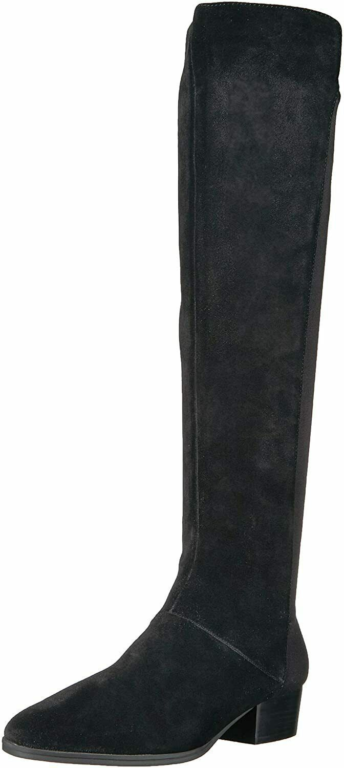 Primary image for Womens Aerosoles Cross Country Tall Boot - Black Suede, Size 6 W US