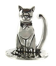 Pewter Cat Ring Holder by Basic Spirit - $28.38