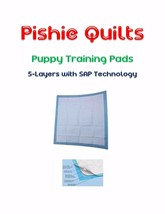 """Odor Fighting SUPER ABSORB Puppy Pads 1200-17x24"""" 5-Layer Polymer Quilted - $142.50"""