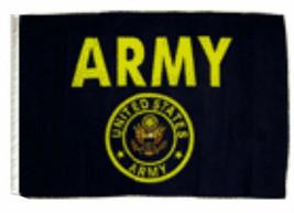 """12x18 12""""x18"""" U.S. Army Seal Crest Black Sleeve Flag Boat Car Garden - $6.44"""