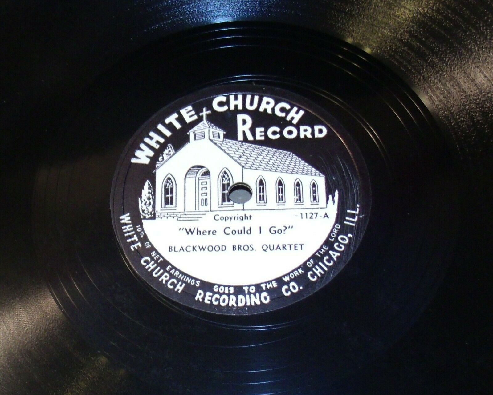 White Church Record # 1127 AA-191720K Vintage Collectible
