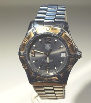 Authentic Tag Heuer Men's Professional 200m Watch with 18kt Gold Bezel - $742.50