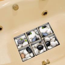 PAG 6pcs 13x13cm Cobblestone Pattern 3D Anti Slip Waterproof Bathtub Sti... - $19.30