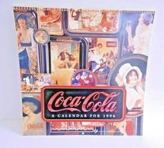 """Vintage 1996 COCA-COLA Wall Calendar 11.5"""" Spiral Bound Collectible Unused - $6.86"""