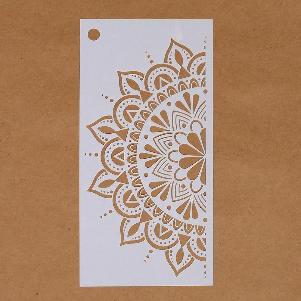 Spring Flower Mandala Stencil Elizabeth Craft Designs