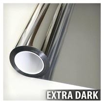 Mirrored Silver Window Film One Way Home Reflective Privacy Tint 36in X ... - $44.97