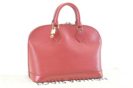 Louis Vuitton Epi Alma Red Hand Bag M52147 Lv Auth 2686 - $520.00