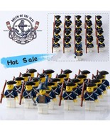 21 Pcs Pirates Of The Caribbean Commander Navy Figures With Rifle Fit Lego Block - $32.99